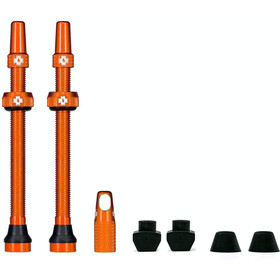 Muc-Off MTB & Road Tubeless Valve Kit 80mm, orange